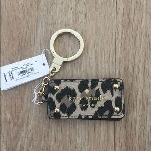 Kate Spade leopard Key Chain